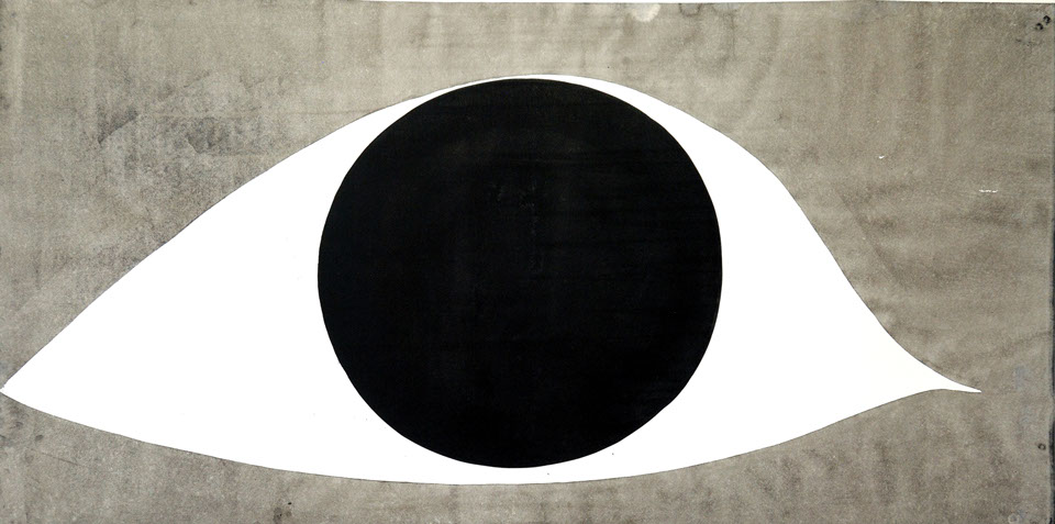 Big eye, ink painting 68/138cm