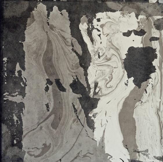 Cliffs, ink painting 34_34cm