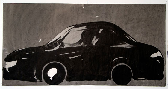 Black car 66cm/133cm