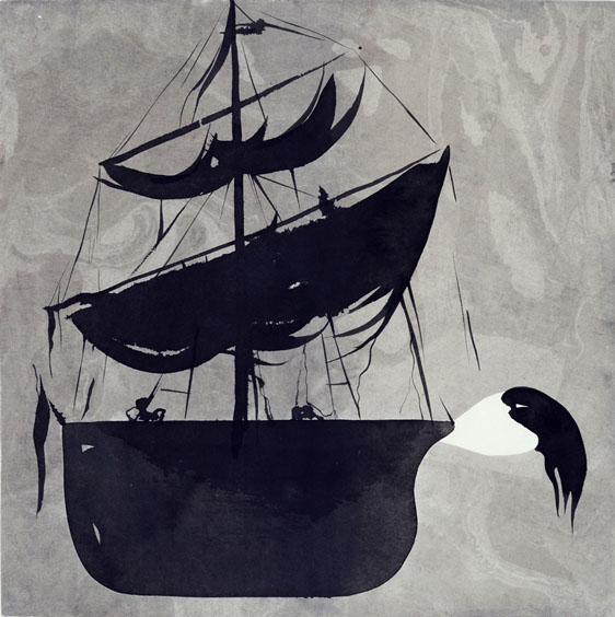 Figurehead, ink painting 34_34cm