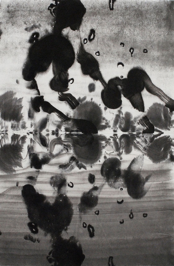 Pond,ink painting 69_53cm