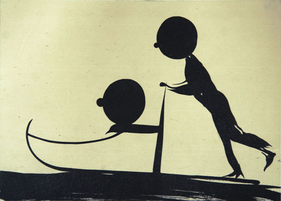 Push sledge, etching 35/50cm