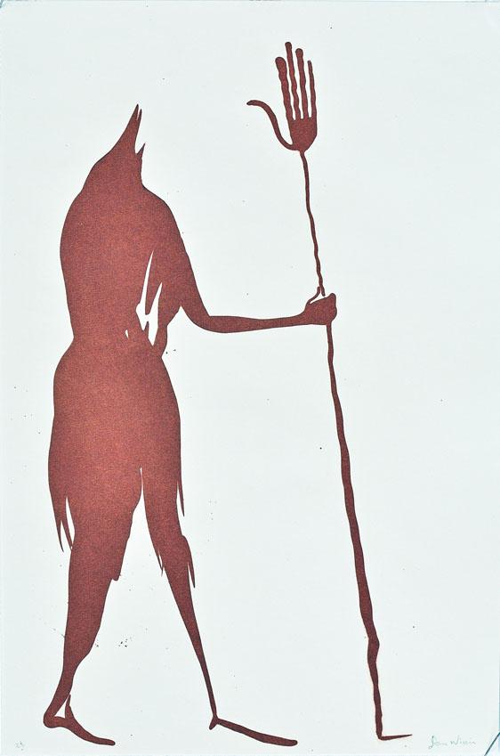 Walking Litho print 29/20cm