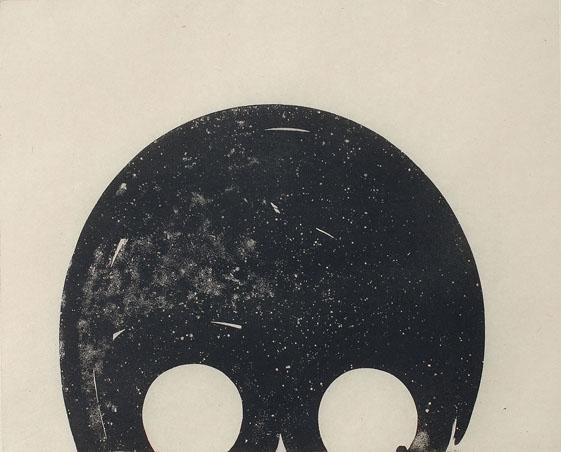 Yorrick, etching 35/50cm